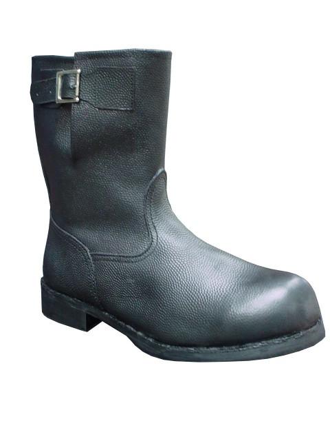 Напівчоботи юхтові з кирзовими халявами, робочі чоботи, спецвзуття.