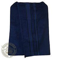 Парео банное махровое (70*140 см), темно-синее