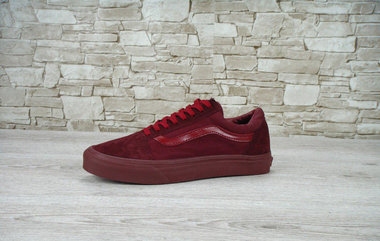 Мужские кеды Vans Old Skool bordo, Копия