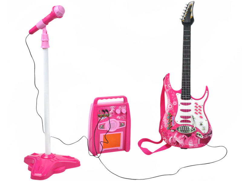 Детская электронная гитара Rock'n'Roll + усилитель + микрофон