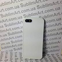 Чехол для 2D сублимации резиновый (TPU) Iphone 5/5S белый, фото 3