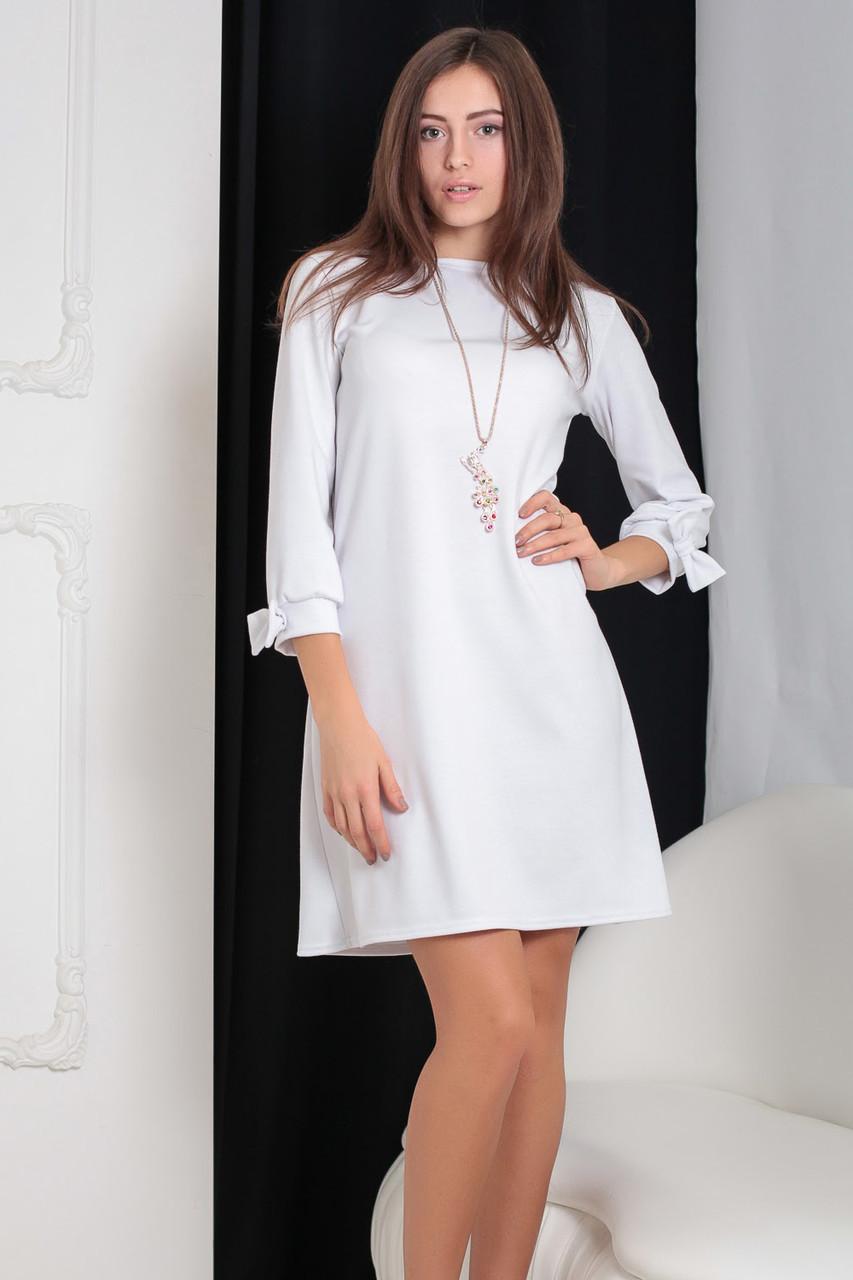 (L / 48) Трикотажне біле плаття Emma Розпродаж