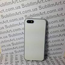 Чехол для 2D сублимации резиновый (TPU) Iphone 5/5S прозрачный, фото 3