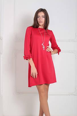Трикотажне червоне плаття Emma (XS-XXL)