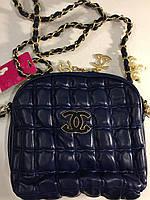 Сумочка Chanel синяя 0054
