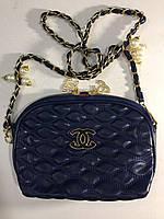 Сумочка Chanel синяя 0055