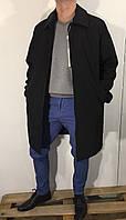 Пальто мужское батал Armani черное 48, фото 1