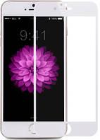 Защитное 3D стекло Mitsubishi Asahi Glass Full Cover для  iPhone 6 Plus White