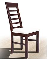 """Стул деревянный со спинкой  """"Лидер Тёмный орех"""" Микс Мебель (деревянный для гостиной зоны)"""