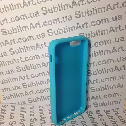 Чехол для 2D сублимации резиновый (TPU) Iphone 5/5S голубой, фото 2