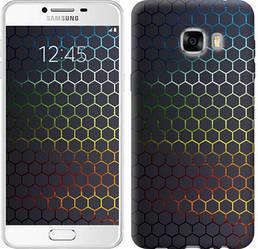 """Чехол на Samsung Galaxy C7 C7000 Переливающиеся соты """"498c-302-328"""""""