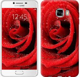 "Чехол на Samsung Galaxy C7 C7000 Красная роза ""529c-302-328"""
