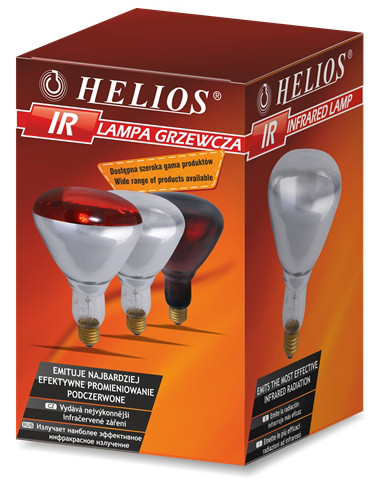 Инфракрасна лампа 150 W Е27 в идивидуальной упаковке Helios Польша