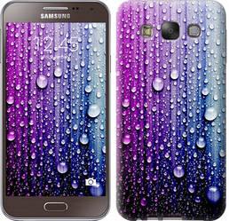 """Чехол на Samsung Galaxy E7 E700H Капли воды """"3351c-139-328"""""""