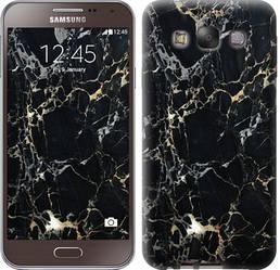 "Чехол на Samsung Galaxy E7 E700H Черный мрамор ""3846c-139-328"""