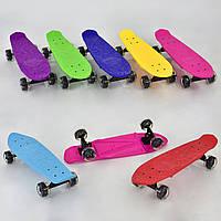 Скейт для детей доска 60 см, светящиеся колёса PU  7 см, Скейтборд, Пенни борд, Лонгборд детский