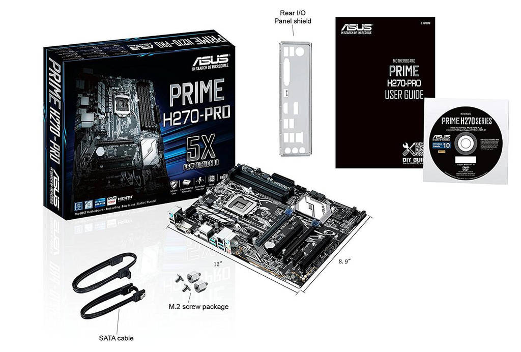 "Материнская плата ASUS Prime H270-Pro s.1151 DDR4 ""Over-Stock"" Б/У"
