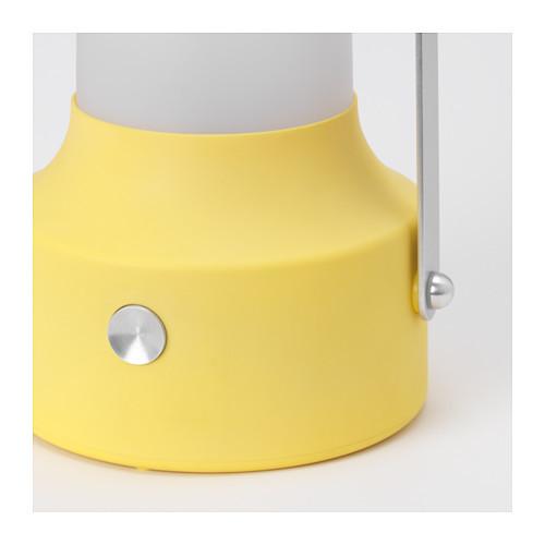 "ИКЕА ""СОЛВИДЕН"" Светодиодный фонарь/солнечн батарея, желтый"