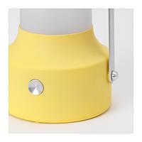 "ИКЕА ""СОЛВИДЕН"" Светодиодный фонарь/солнечн батарея, желтый, фото 1"