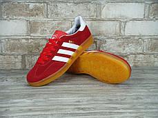Мужские кроссовки Adidas Gazelle Indoor Red, Адидас Газели, фото 3