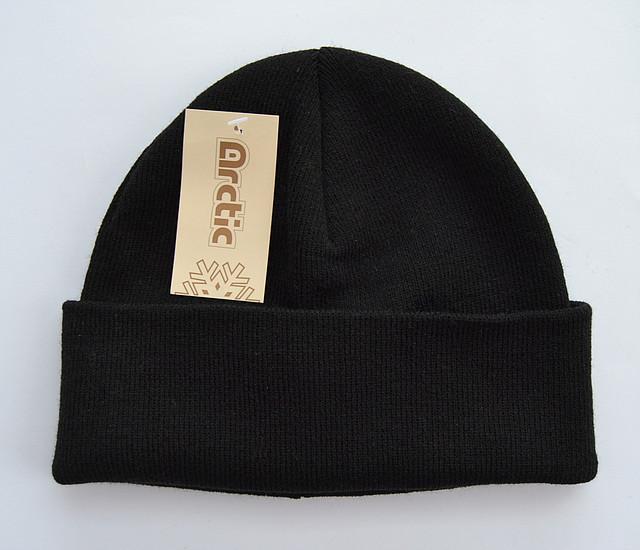 Черная подростковая шапка для мальчиков Шапка, 54-60, Вязка, 6, Черный