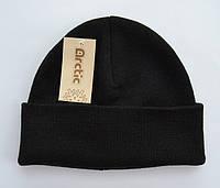 Черная подростковая шапка для мальчиков Шапка, 54-60, Вязка, 6, Черный, фото 1