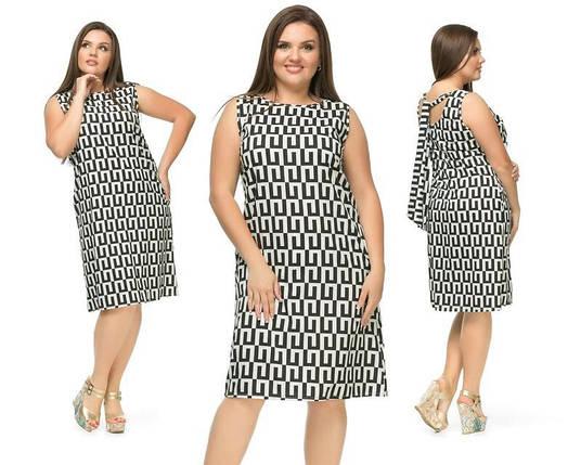 """Элегантное и нежное женское платье """"Креп-шифон"""" 50, 52, 56 размер батал, фото 2"""