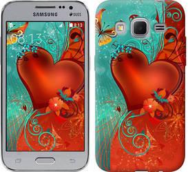 "Чехол на Samsung Galaxy Core Prime VE G361H Сердце в цветах ""220c-211-328"""