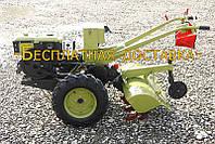 Мотоблок 8л.с. ТТ81E -SH180NDL (с электростартером, водяное охлаждение) - колея 420мм, ширина фрезы 110см, плу