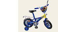 """Велосипед двухколесный 12 дюймов """"Трансформеры"""" со звонком, зеркалом и страховочными колесами"""