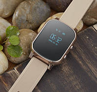 Умные часы с трекером Smart GPS Watch T58 Gold для подростоков, взрослых и пожилых людей