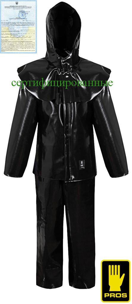 Костюм кислотозащитный рабочий черный Польша (комплект защитный рабочий) AJ-UK412 B