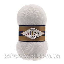 Alize Angora Real 40 (Ализе Ангора реал 40)  55 белый