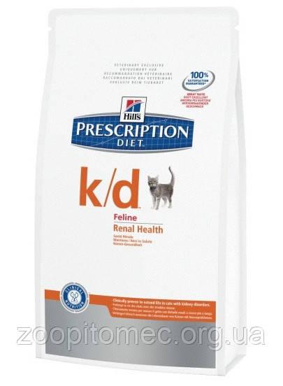 Корм Hills (Хилс) Prescription Diet Feline k/d для кошек при заболеваниях почек, 1,5 кг