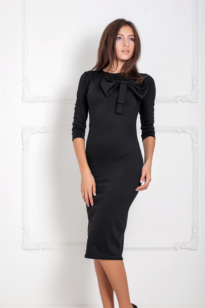 (M   44-46) Стильне чорне вечірнє плаття Solis Розпродаж -