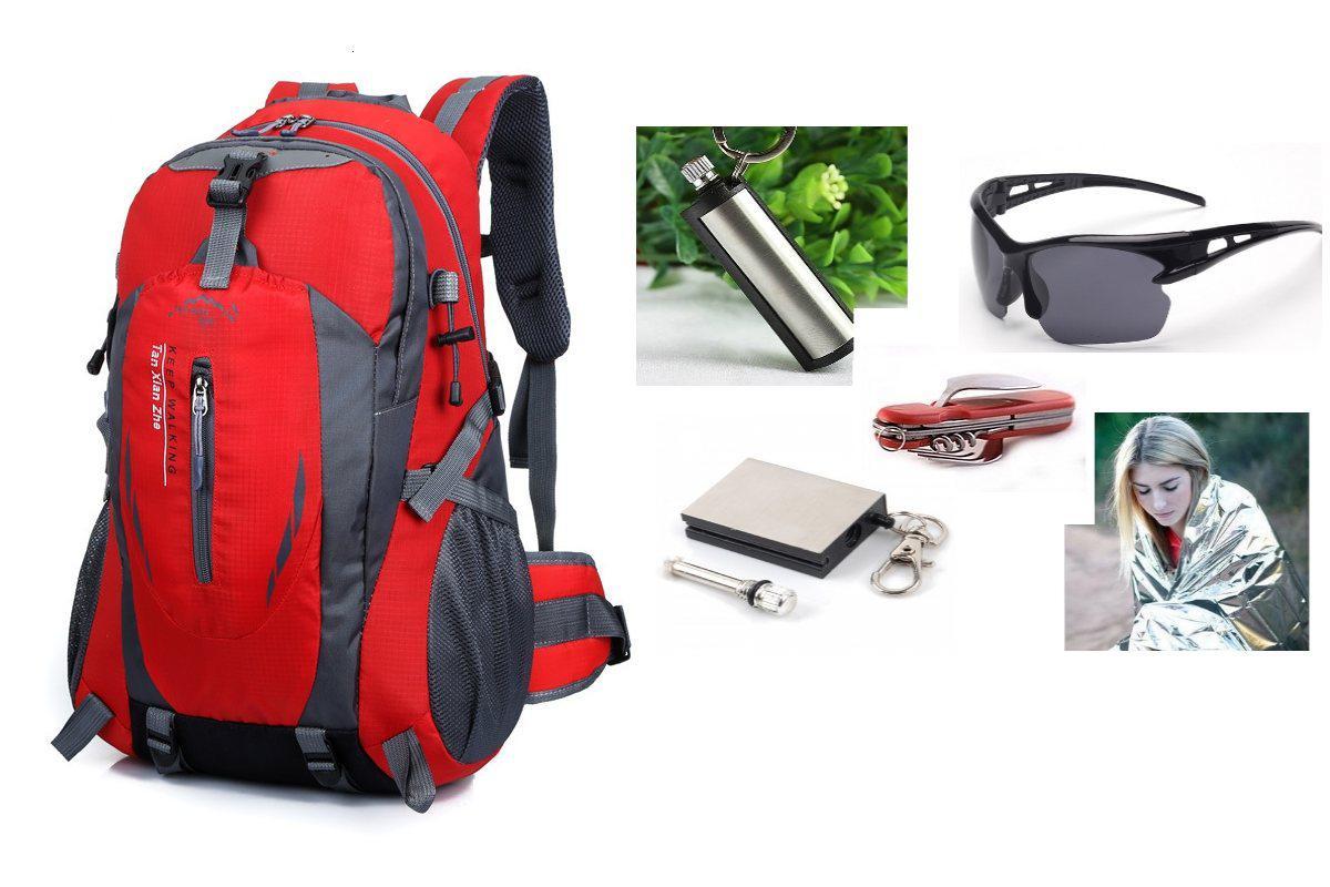 Рюкзак спортивный Mountain red+ПОДАРОК (на выбор)