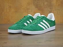 Мужские кроссовки Adidas Gazelle OG Green, Адидас Газели, фото 3
