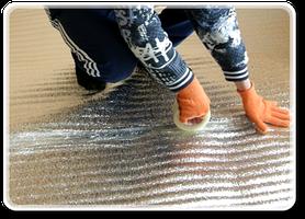Зафиксируйте термоизоляционную пленку скотчем. Теплоотражающий материал и скотч вы можете заказать на нашем сайте.