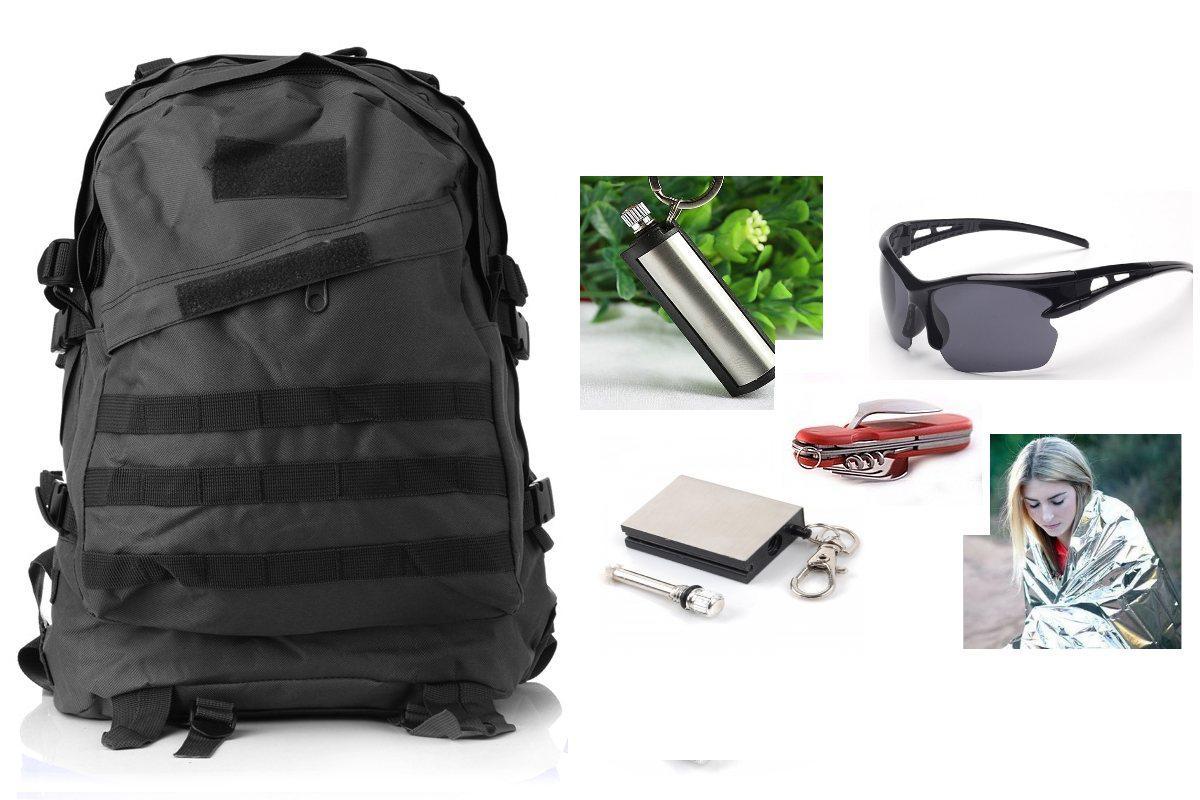 Армейский походный рюкзак Bulat black+ПОДАРОК (на выбор)