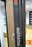 """Входная дверь в квартиру """"Квадро"""" серии """"Белорусский стандарт"""" (Дуб тёмный рустикаль + патина / Дуб тёмный), фото 5"""
