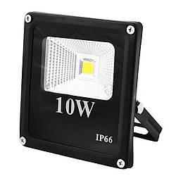 Прожектор светодиодный матричный 10W COB, IP66 (влагозащита), гладкий рефлектор - 6