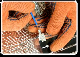 Далее подключите электрические провода, в соответствии со схемой подключения, что идет в комплекте теплого пола.