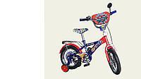 """Велосипед двухколесный 14 дюймов """"Вспыш"""" со звонком, зеркалом и страховочными колесами, ручным тормозом"""