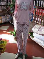 Нежно розовая пижама с Мишкой с длинным рукавом