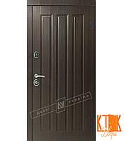 """Входная дверь в квартиру """"Трояна"""" серии """"Белорусский стандарт"""" (Венге тёмный распил)"""