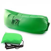 Самонадувной диван - шезлонг Lamzac Hangout (Кресло Матрас Ламзак Хенгаут зеленый высочайшего качества), фото 1
