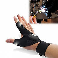 Перчатки с подсветкой hand-free light со встроенным фонариком Glove Light