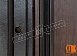 """Уличная дверь """"Кейс"""" серии """"Белорусский стандарт"""" (Орех тёмный DE-98037-10), фото 4"""