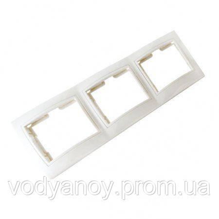 Рамка 3 - трехместная белая ELECTROMAX - Магазин Водяной в Харькове