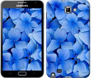 """Чехол на Samsung Galaxy Note i9220 Синие цветы """"526c-316-328"""""""